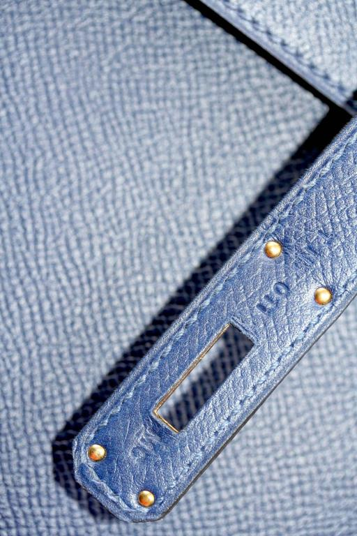 HERMES Kelly Bleu saphir epsom 28' In New Never_worn Condition For Sale In Monte Carlo, MC