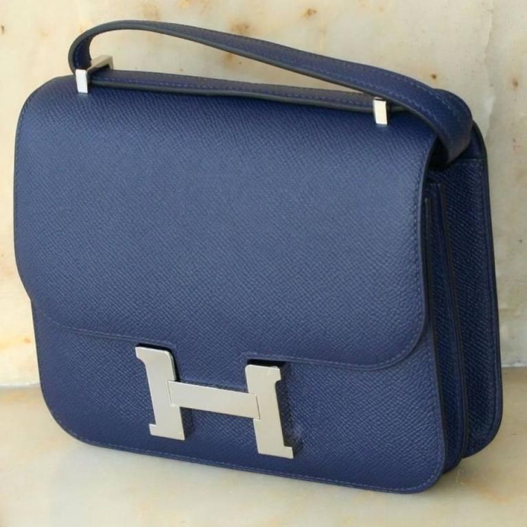 HERMES Constance Mini Epsom Sapphire Blue 18' 2