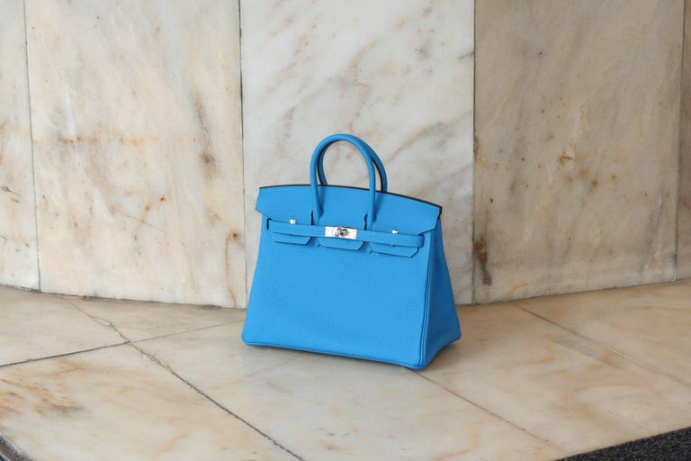 HERMES BIRKIN Zanzibar Blue 25' In New Never_worn Condition For Sale In Monte Carlo, MC