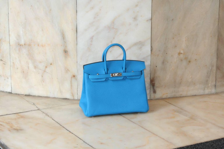 Women's HERMES BIRKIN Zanzibar Blue 25' For Sale