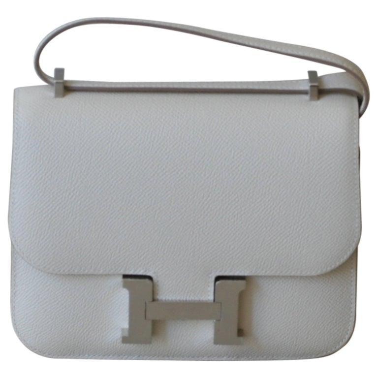 Hermes Constance Mini Epsom Craie Bag For Sale