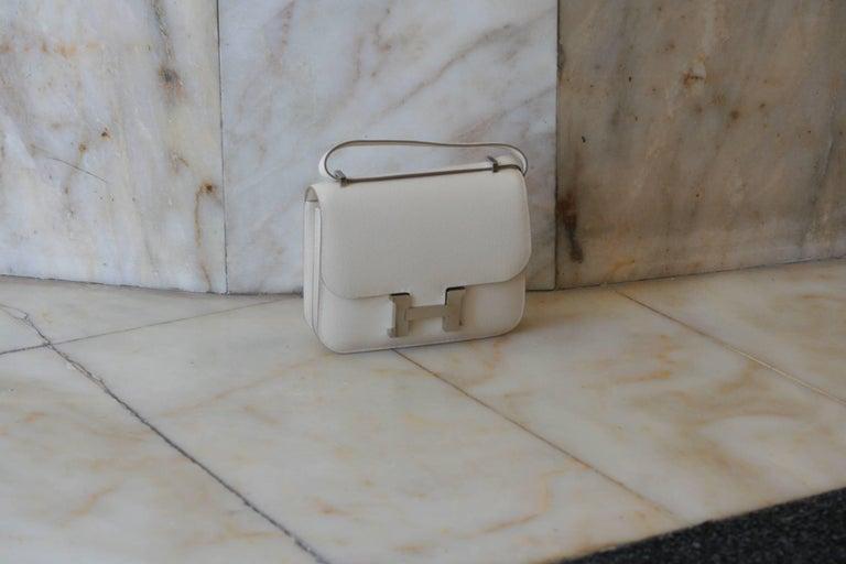 Gray Hermes Constance Mini Epsom Craie Bag For Sale