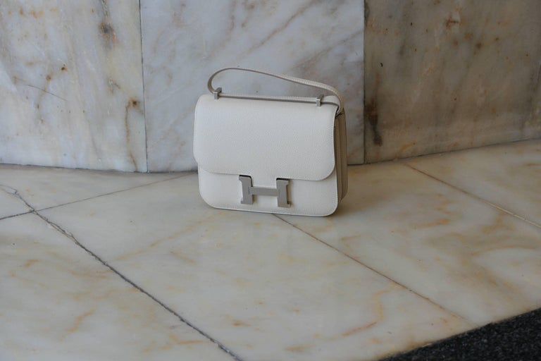 Hermes Constance Mini Epsom Craie Bag In New Condition For Sale In Monte Carlo, MC