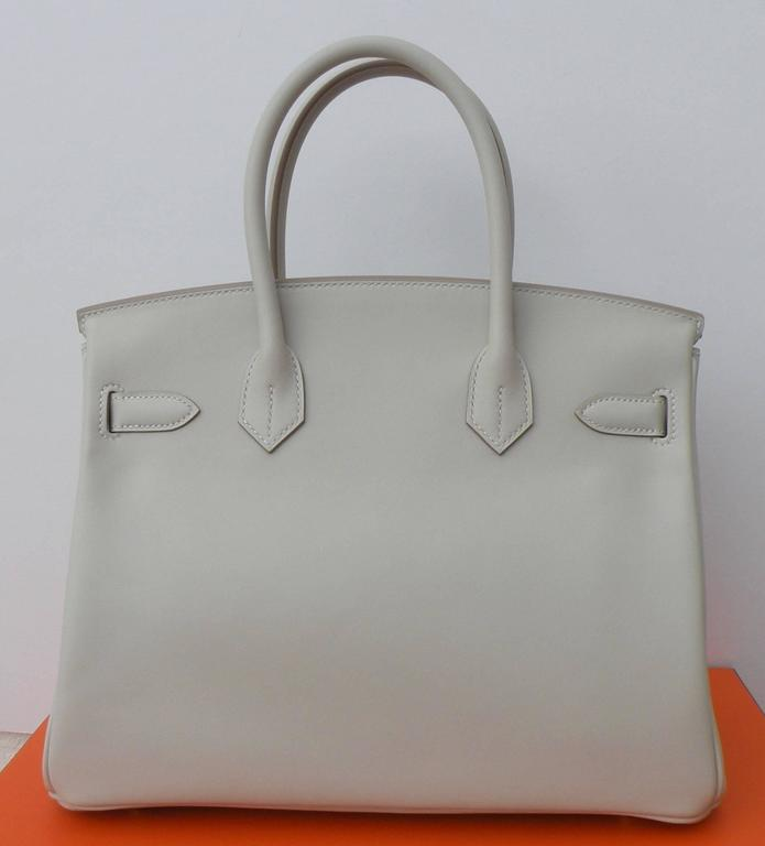 Hermes Birkin Bag 30cm Gris Perle Gold Hardware 2