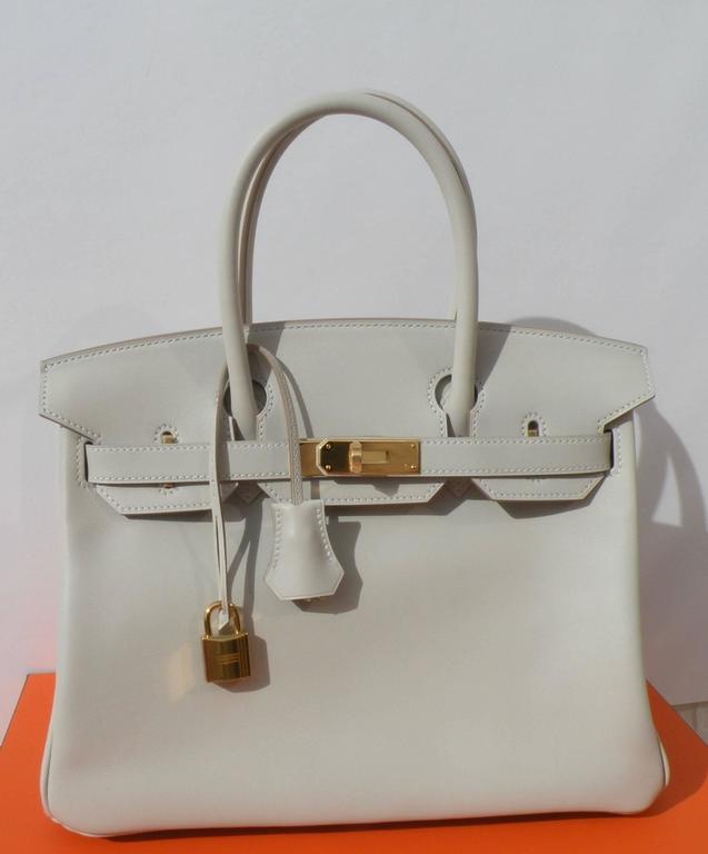 Hermes Birkin Bag 30cm Gris Perle Gold Hardware 4