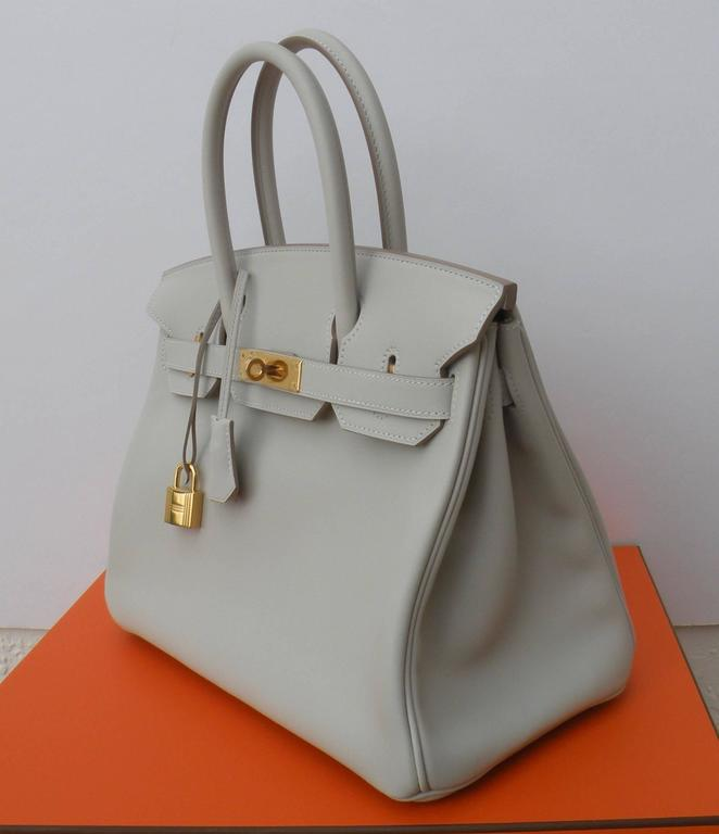 Hermes Birkin Bag 30cm Gris Perle Gold Hardware 3