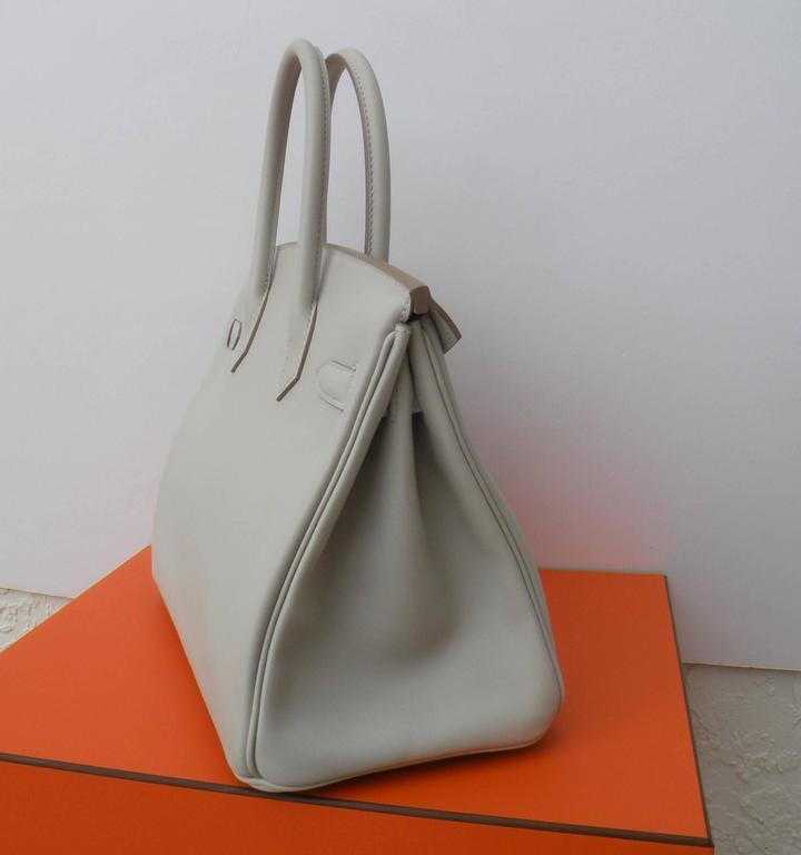 Hermes Birkin Bag 30cm Gris Perle Gold Hardware 5