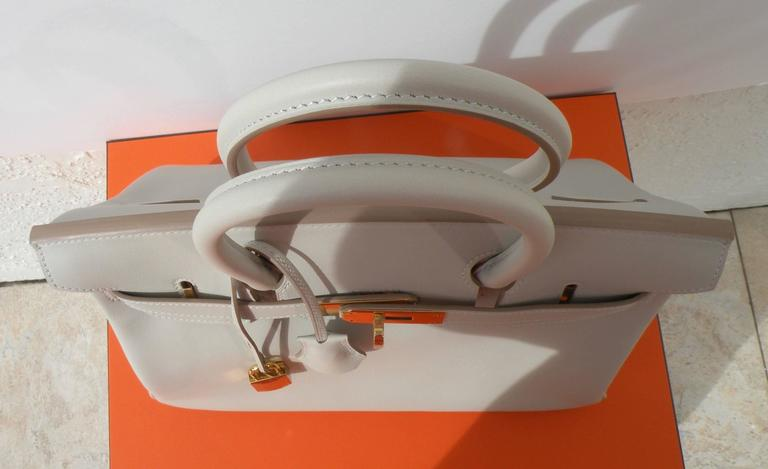 Hermes Birkin Bag 30cm Gris Perle Gold Hardware 6