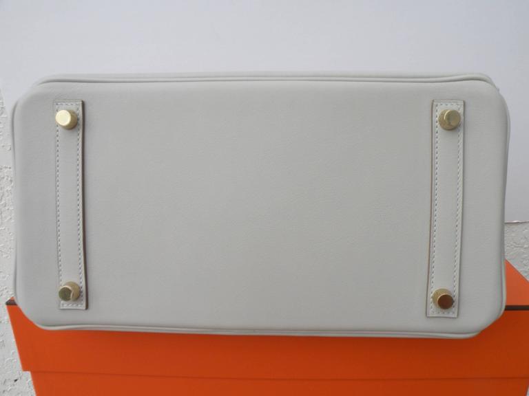 Hermes Birkin Bag 30cm Gris Perle Gold Hardware 7