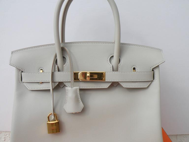 Hermes Birkin Bag 30cm Gris Perle Gold Hardware 8