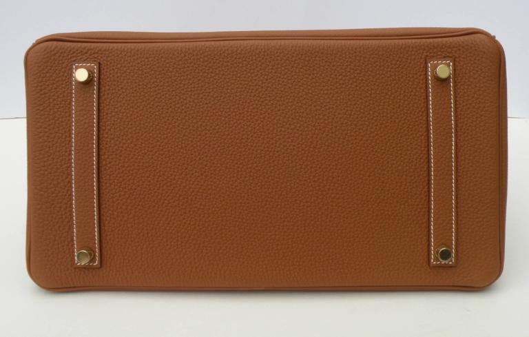 Hermes Birkin Bag 35cm Gold Togo Gold Hardware Horseshoe  3