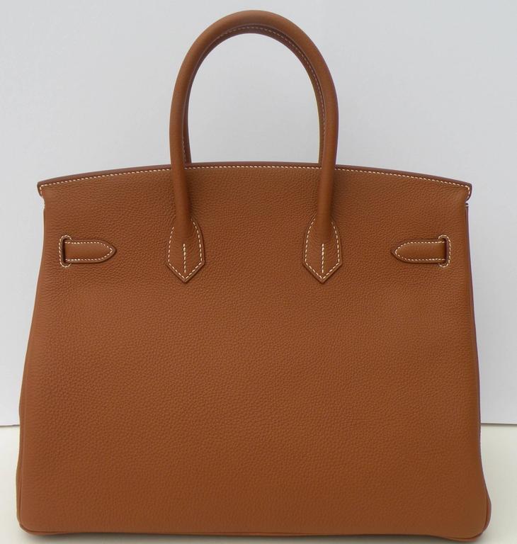 Hermes Birkin Bag 35cm Gold Togo Gold Hardware Horseshoe  5