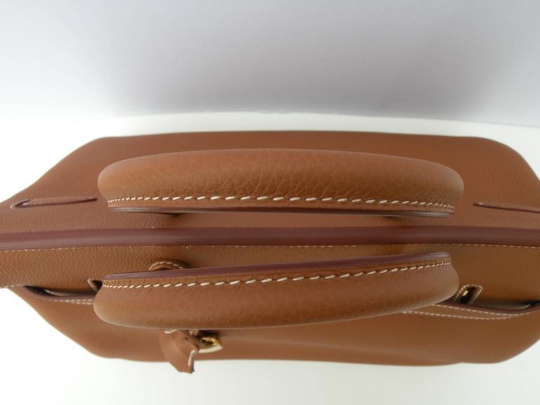 Hermes Birkin Bag 35cm Gold Togo Gold Hardware Horseshoe  6