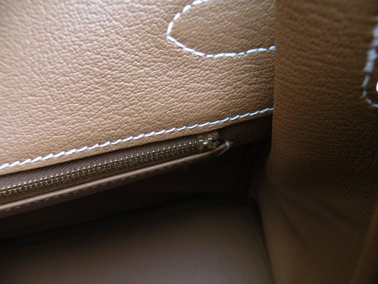 Hermes Birkin Bag 35cm Gold Togo Gold Hardware Horseshoe  8