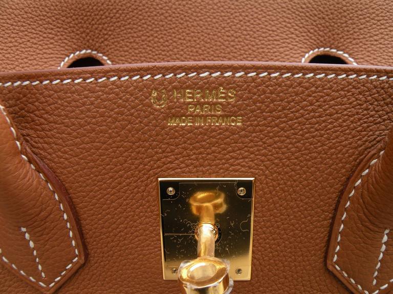 Hermes Birkin Bag 35cm Gold Togo Gold Hardware Horseshoe  9
