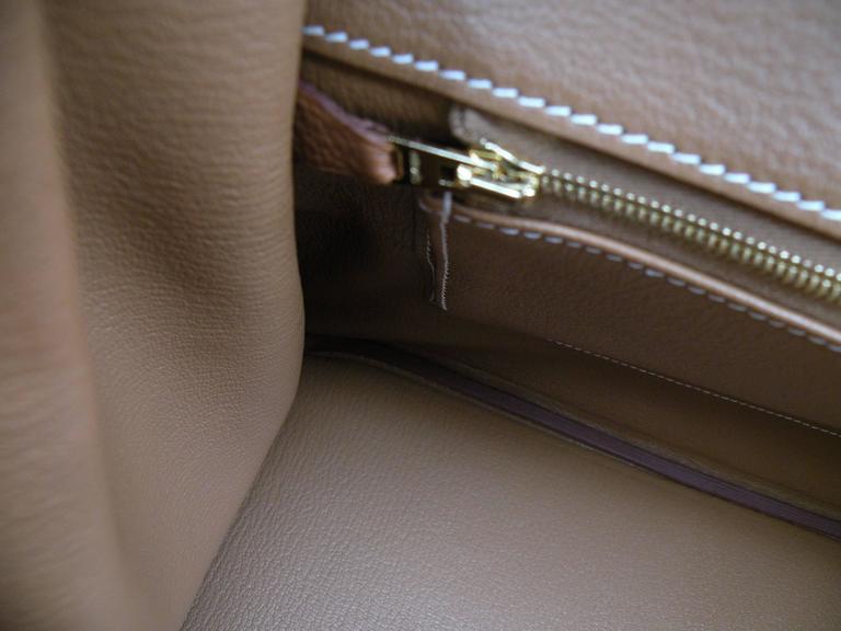 Hermes Birkin Bag 35cm Gold Togo Gold Hardware Horseshoe  10