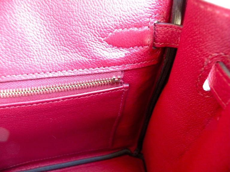 Hermes Birkin Bag 25cm Rouge Grenat Red Togo Gold Hardware 7