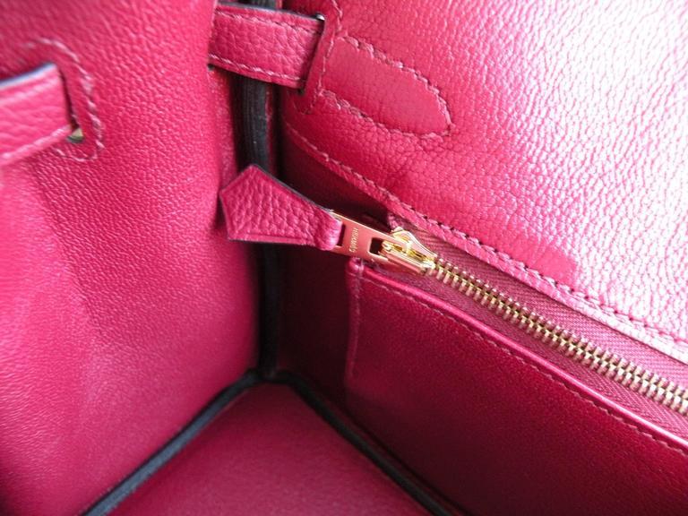 Hermes Birkin Bag 25cm Rouge Grenat Red Togo Gold Hardware 9
