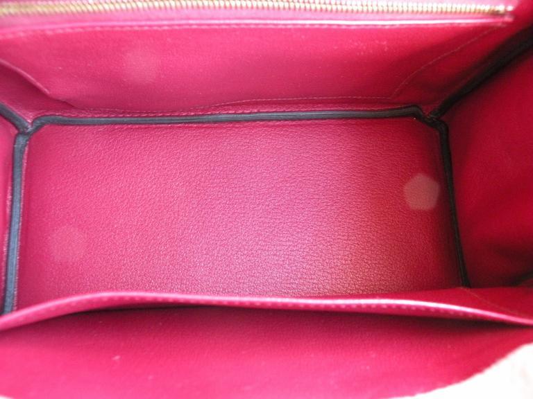 Hermes Birkin Bag 25cm Rouge Grenat Red Togo Gold Hardware 10
