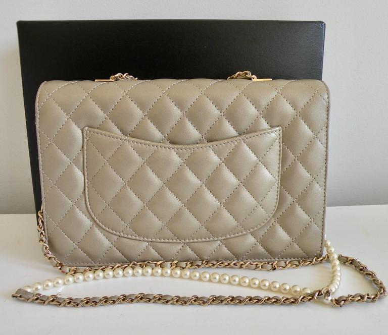 Chanel Fantasy Pearls Flap Bag Gold with  Lt Gold Hardware 3