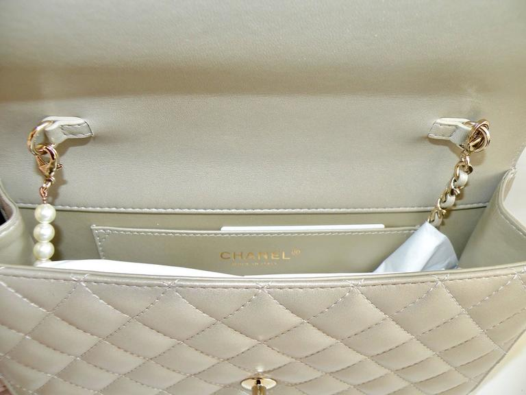 Chanel Fantasy Pearls Flap Bag Gold with  Lt Gold Hardware 5