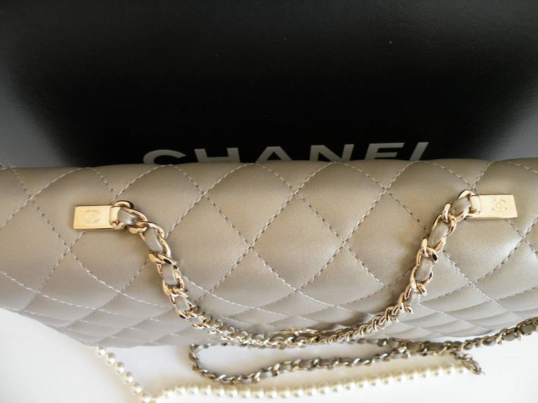 Chanel Fantasy Pearls Flap Bag Gold with  Lt Gold Hardware 6