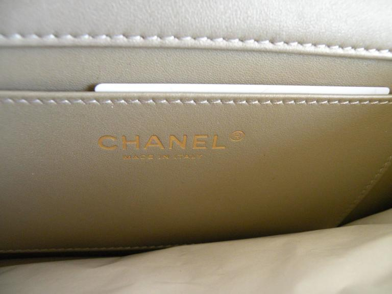 Chanel Fantasy Pearls Flap Bag Gold with  Lt Gold Hardware 7