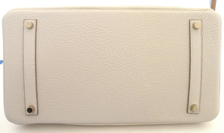 Hermes Craie Chalk White Togo Birkin 35cm Gold Hardware 3