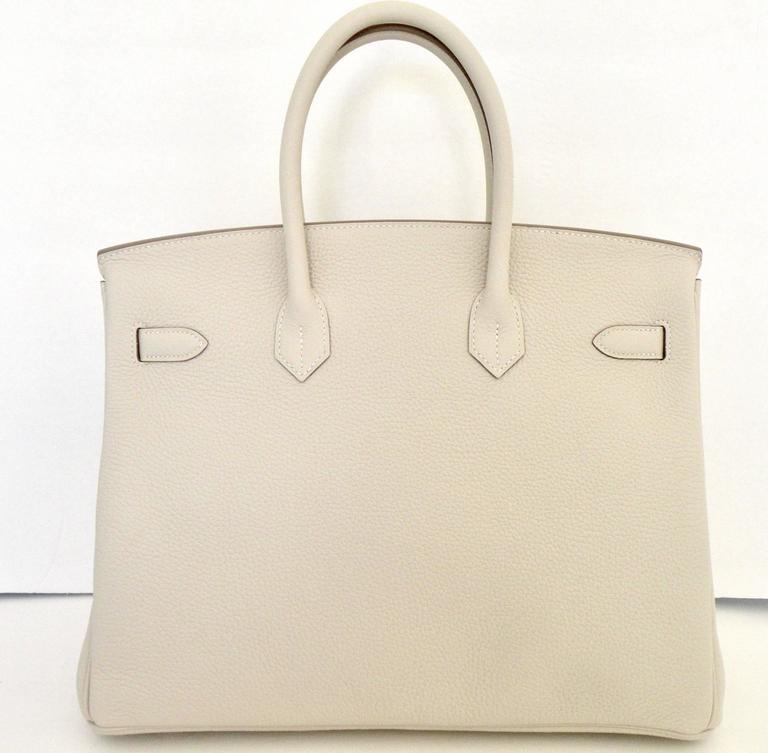 Hermes Craie Chalk White Togo Birkin 35cm Gold Hardware 4