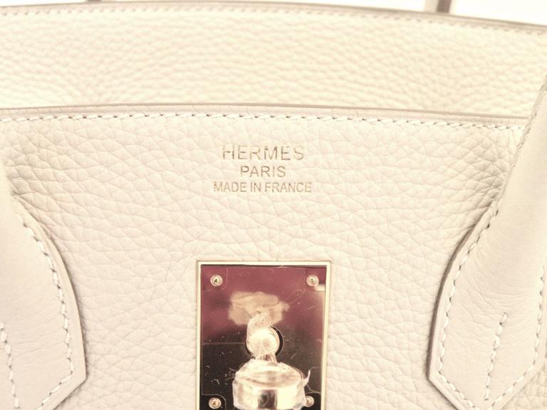 Hermes Craie Chalk White Togo Birkin 35cm Gold Hardware 5