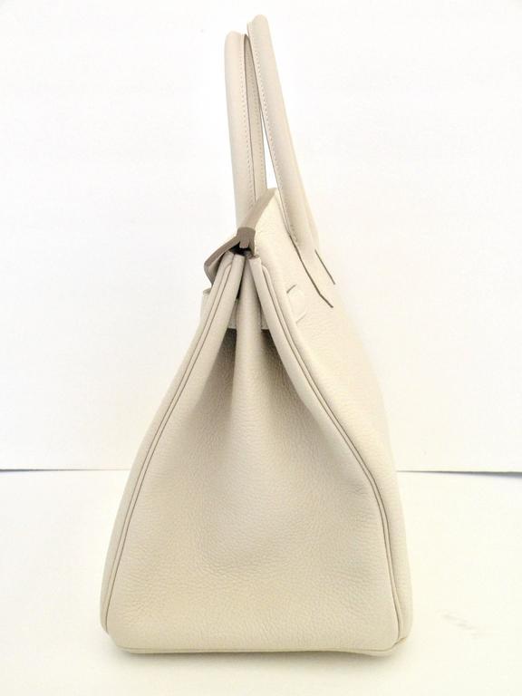 Hermes Craie Chalk White Togo Birkin 35cm Gold Hardware 6