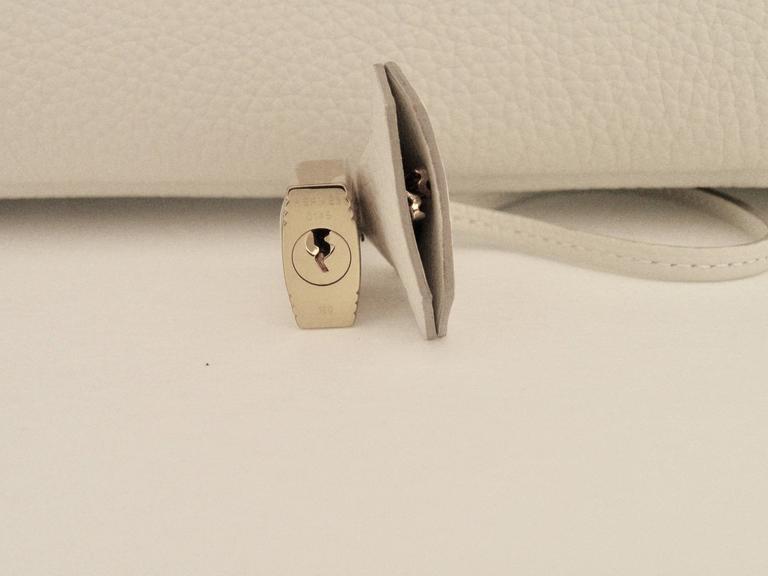 Hermes Craie Chalk White Togo Birkin 35cm Gold Hardware 7