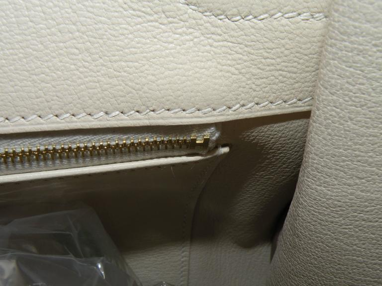 Hermes Craie Chalk White Togo Birkin 35cm Gold Hardware 9