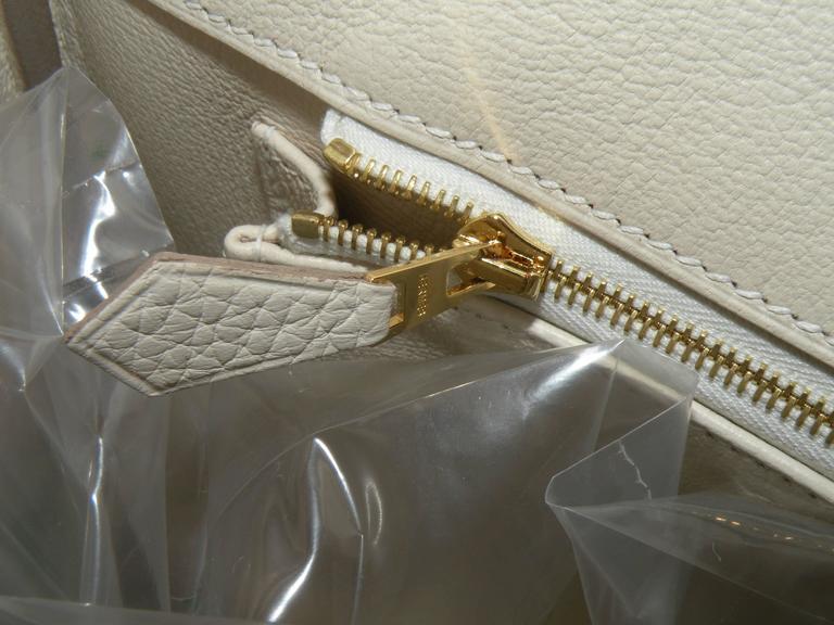 Hermes Craie Chalk White Togo Birkin 35cm Gold Hardware 10