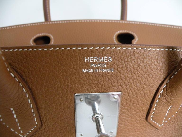 Hermes Gold Togo Birkin 30cm Palladium Hardware 8