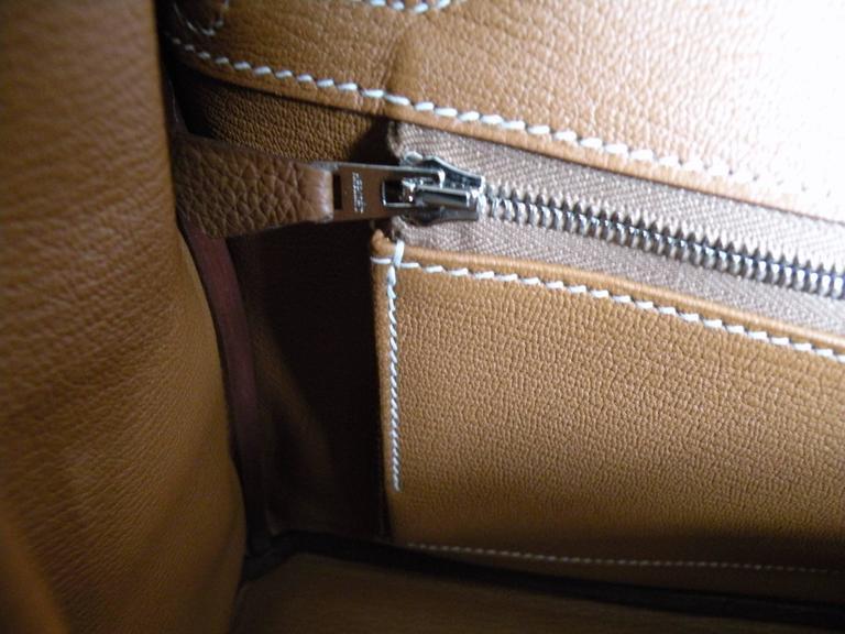 Hermes Gold Togo Birkin 30cm Palladium Hardware 9