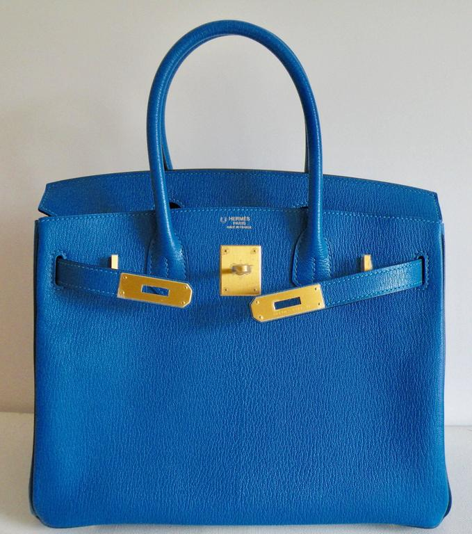 Hermes HSS Special Order Birkin 30cm Blue Hydra and Blue Saphire 2