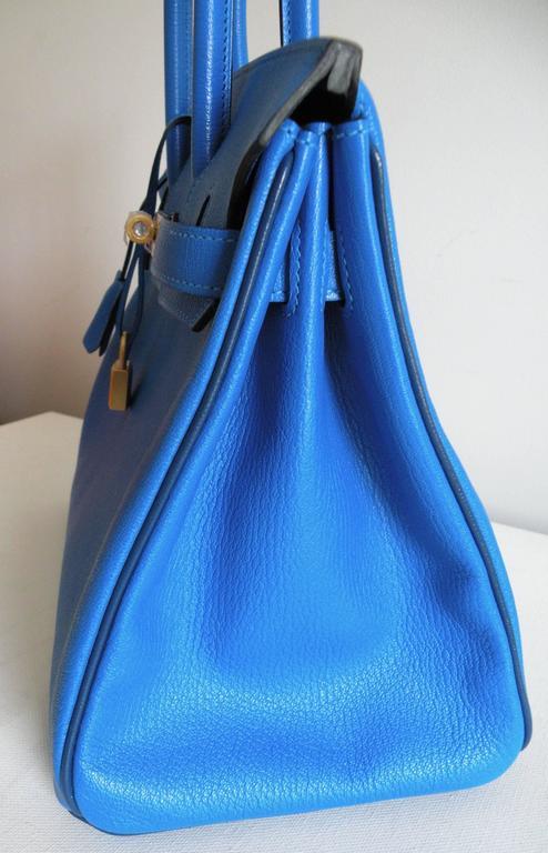 Hermes HSS Special Order Birkin 30cm Blue Hydra and Blue Saphire 4