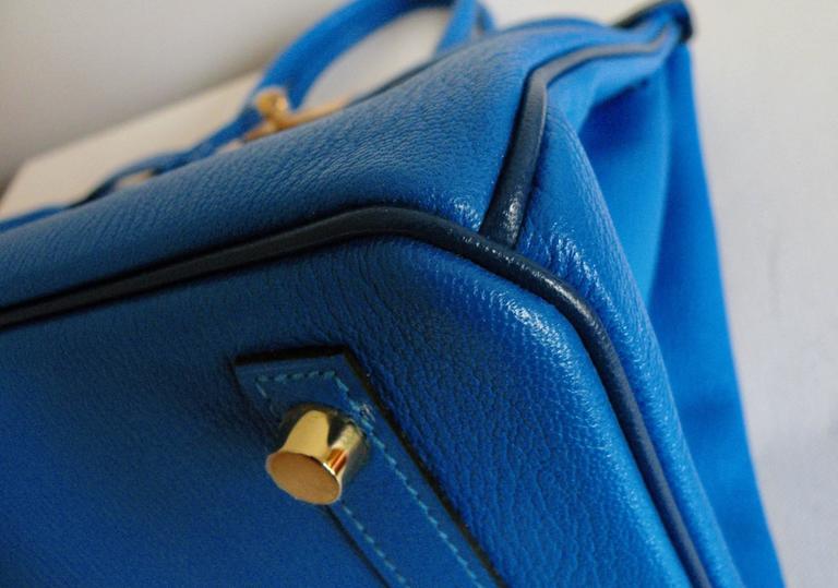 Hermes HSS Special Order Birkin 30cm Blue Hydra and Blue Saphire 3