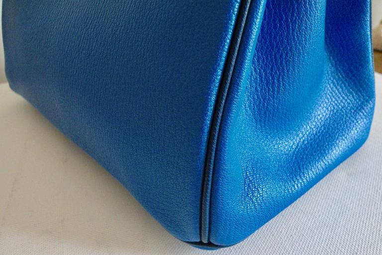 Hermes HSS Special Order Birkin 30cm Blue Hydra and Blue Saphire 5
