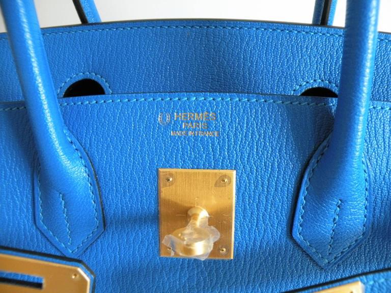 Hermes HSS Special Order Birkin 30cm Blue Hydra and Blue Saphire 10