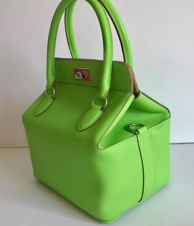 Hermes Toolbox Mini 20cm Granny Green  2