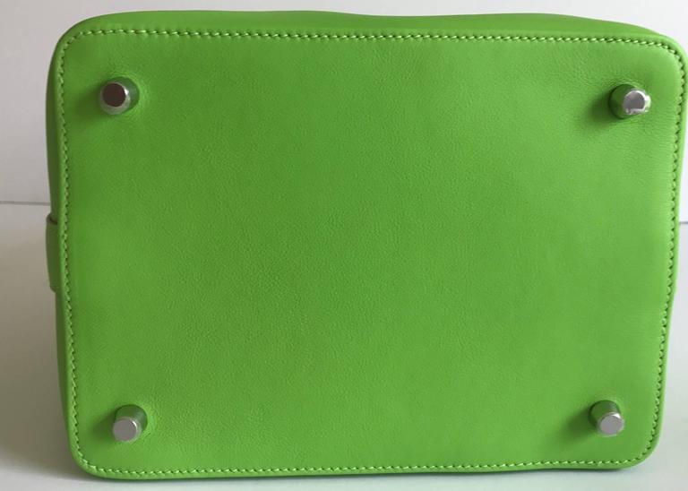 Hermes Toolbox Mini 20cm Granny Green  5
