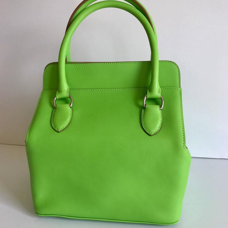 Hermes Toolbox Mini 20cm Granny Green  4