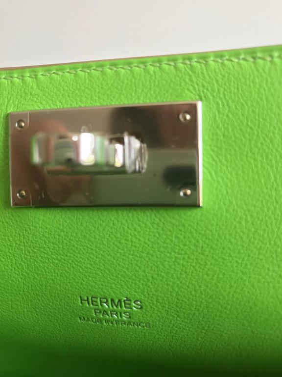 Hermes Toolbox Mini 20cm Granny Green  7