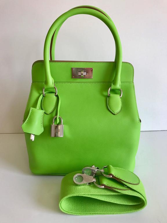 Hermes Toolbox Mini 20cm Granny Green  3