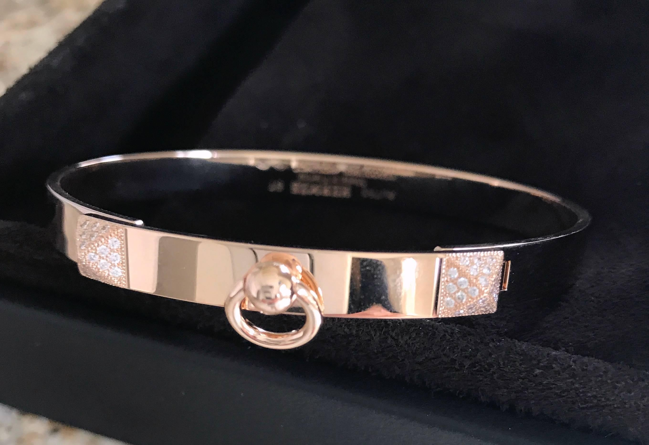 pin hermes pink chien de bracelet collier leather inspired