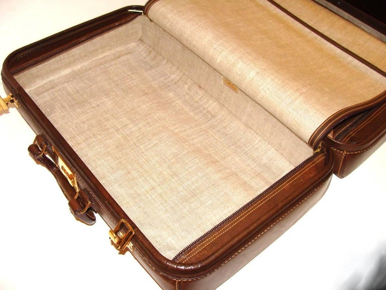 Atlas Vintage Leather Suitcase Overniter Holiday Gift For