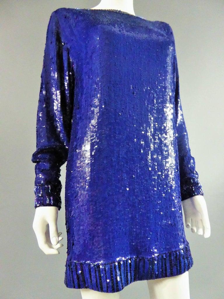 Purple Yves Saint Laurent Rive Gauche Sweater Dress For Sale