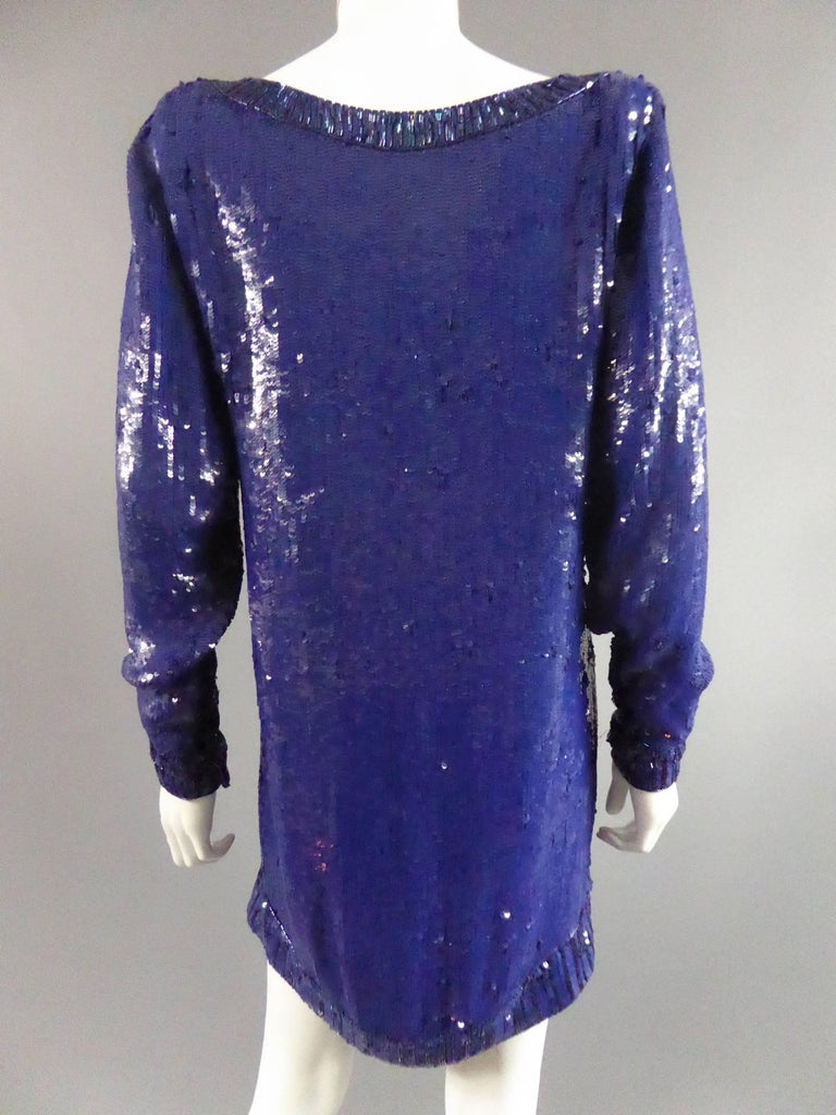 Yves Saint Laurent Rive Gauche Sweater Dress In Excellent Condition For Sale In Toulon, FR